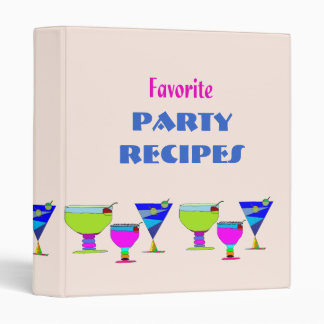 Party Drinks Recipes Binder