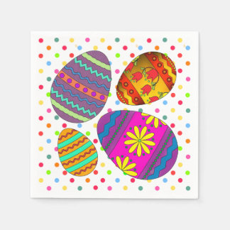 Party Eggs Easter Paper Napkins