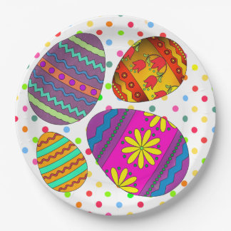 Party Eggs Easter Paper Plate