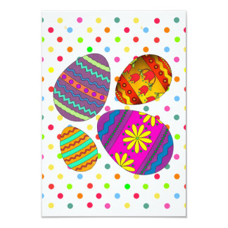 Party Eggs Easter Party Invitations
