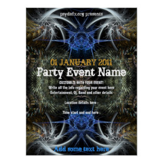 "Party Event ""Fractal Scifi""  Poster"
