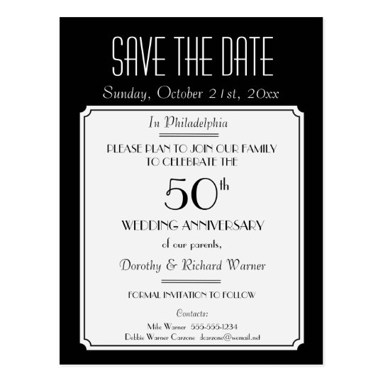 Party, Event or Reunion Save the Date in