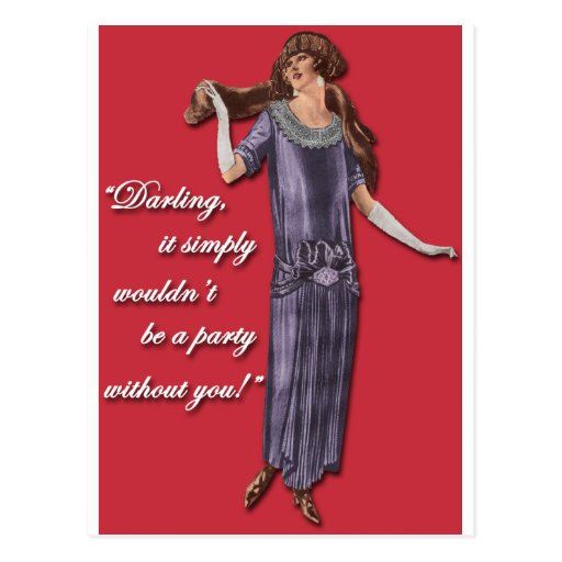 Party Flapper Style! Postcards