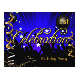 Party Flyer Any Age Birthday Party Celebration