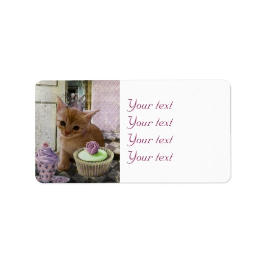 Party for One kitten label sheet Address Label