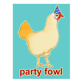 Party Fowl Postcard