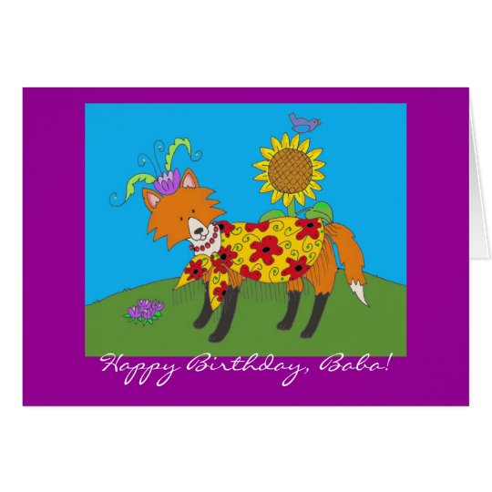 Party Fox Happy Birthday! Card
