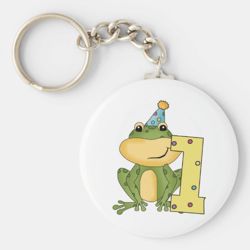 Party Frog 1st Birthday T-shirts and Gifts Keychain