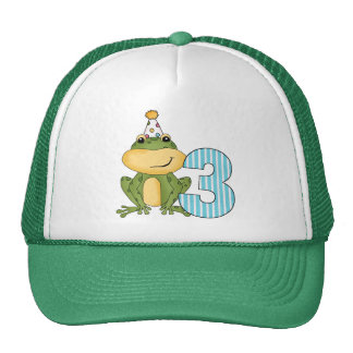 Party Frog 3rd Birthday T-shirts and Gifts Cap