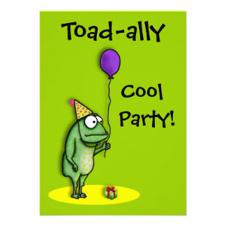 Party Frog Custom Invitation