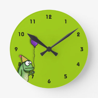 Party Frog Round Clock