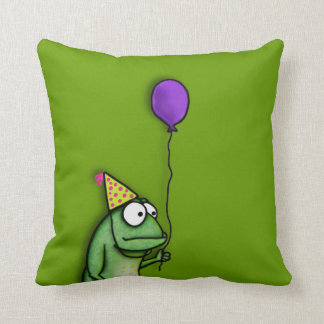 Party Frog Throw Pillow
