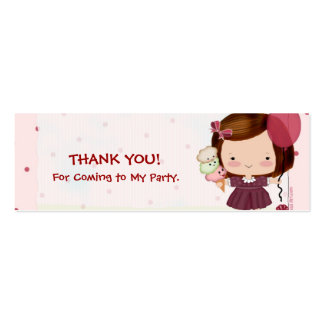 Party Girl  Favor Tags Business Card