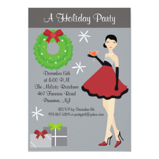 Party Girl Holiday Party Invitation