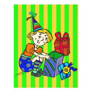 Party Girl Opening Gifts 21.5 Cm X 28 Cm Flyer