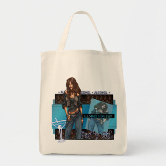 Party Girl - Organic Grocery Tote