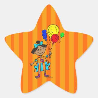 Party Girl Star Sticker