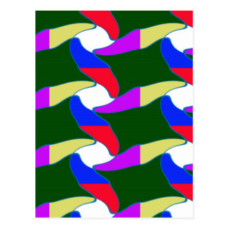 Party giveaway Lowprice gifts Colorful Waves fun Postcard