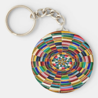Party GIVEAWAY RETURN GIFTS: Chakra Oval Print Keychains