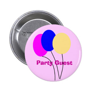 Party Guest 6 Cm Round Badge