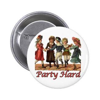 Party Hard Dancing Victorians Birthday 6 Cm Round Badge