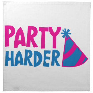 PARTY HARDER! with party hat Cloth Napkin