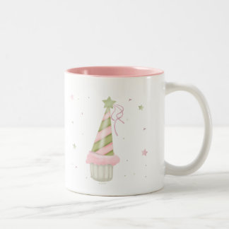 Party Hat and Cupcake Two-Tone Mug