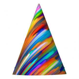 Party Hat Colorful digital art splashing G391