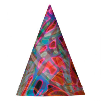 Party Hat Colorful Stained Glass