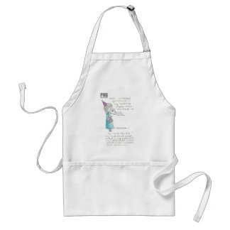 Party Hat Girl--Mousey Standard Apron