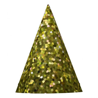 Party Hat Gold Mosaic Sparkley Texture
