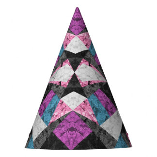 Party Hat Marble Geometric Background G438