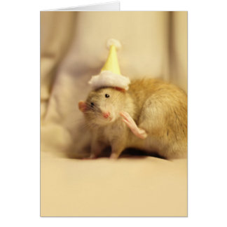 Party Hat Mouse Cute Birthday Card