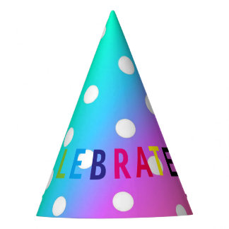 Party Hat/Rainbow and Polka Dots Party Hat