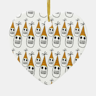 Party hat skulls christmas ornament