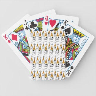 Party hat skulls poker cards