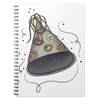 Party Hat Spiral Notebook
