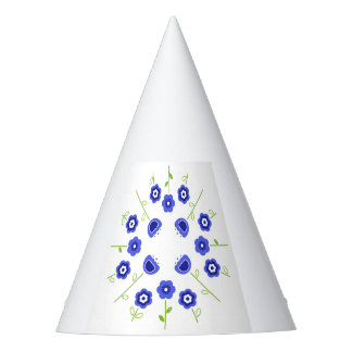 Party hat with Folk ornaments