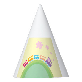 Party hat with Trains
