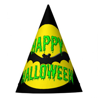 "Party Hats - Batty ""Happy Halloween"""