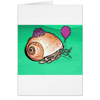 Party Hermit Crab Design Card