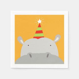 Party Hippo Paper Napkin