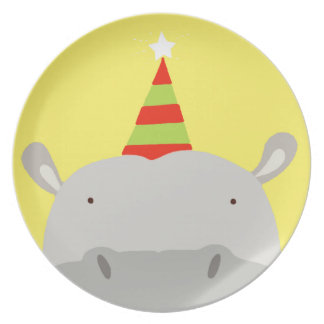 Party Hippo Plate