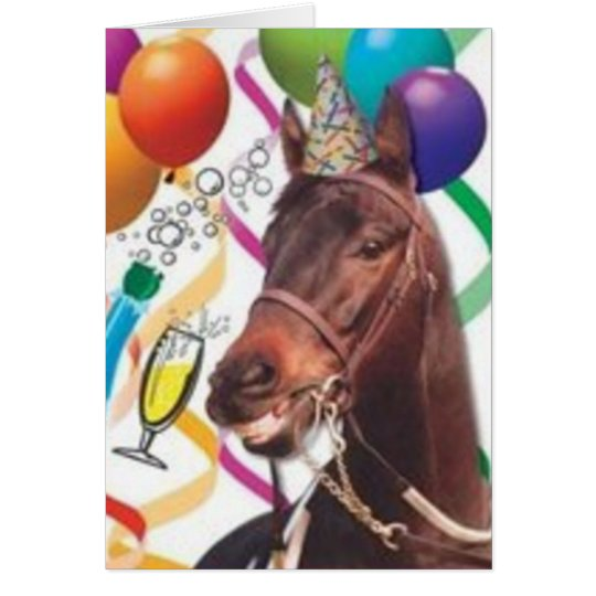 Party Horse B-Day Card