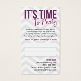 Custom Party Invitation Business Cards | Zazzle.co.uk