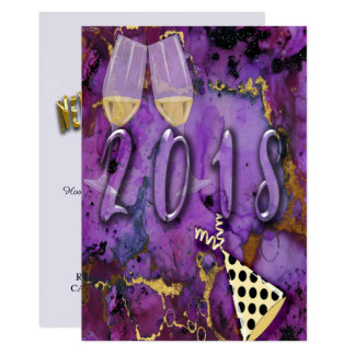 Party Invitation card New Years celebration