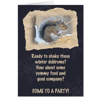 Party Invitation - Eastern Gray Squirrel Greeting Card
