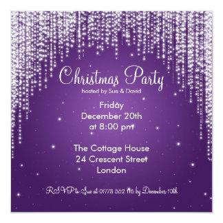 Party Invitation Elegant Falling Sparkle Purple