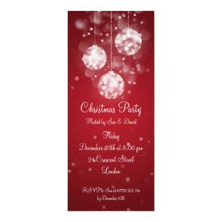 Party Invitation Elegant Sparkling Baubles Red