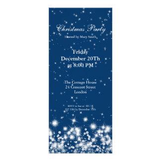 Party Invitation Elegant Winter Sparkle Royal Blue